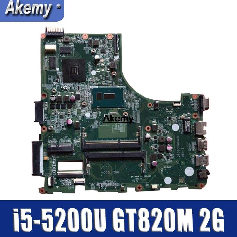 For ACER E5-471 E5-471G V3-472 V3-472P  Laptop Motherboard DA0ZQ0MB6E0 With I5-5200U GT820M 2G 100% Test Work