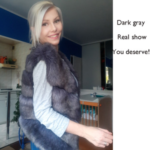 Image 2 - 2020 New Fashion Fur Coat Women Plus Size Faux Fur Gilet Waistcoat Winter Thick Warm Outerwear Fur Gilet Overcoat Jacket Female