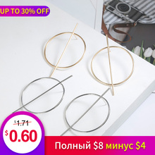 Fashion Hoop Earrings 2019 Simple Design Personality Gold Ring Women Jewelry Wholesale