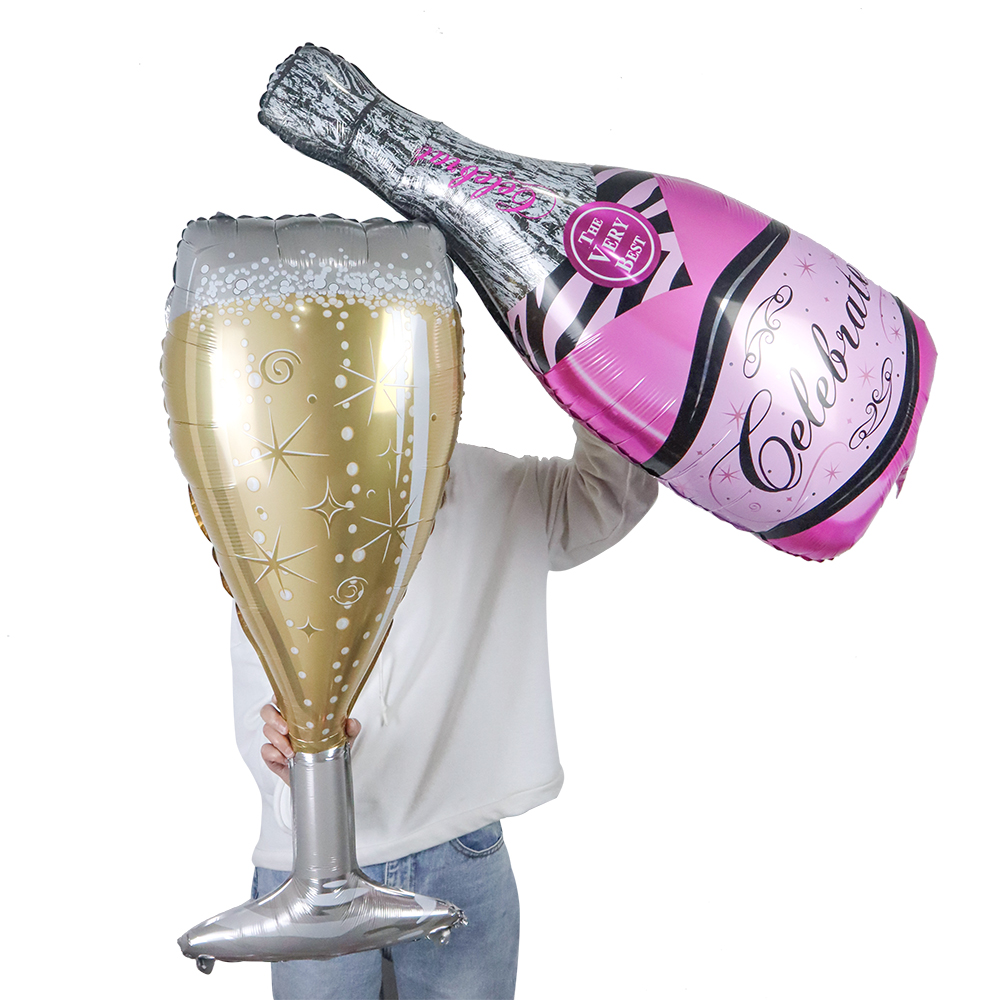 Large Helium Champagne Bottle Balloon Wine Mylar Beer Balloons Wedding Birthday Party Decorations Adult Kid Event Party Supplies