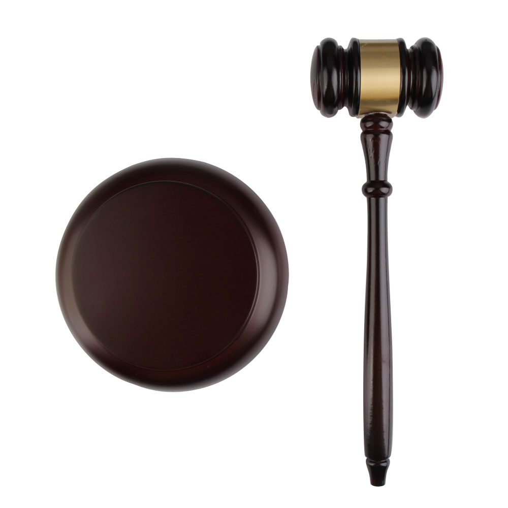 Handmade Wooden Auction Hammer for Lawyer Judge Handcrafted Gavel Court Hammer for Auction Sale Decor Black image