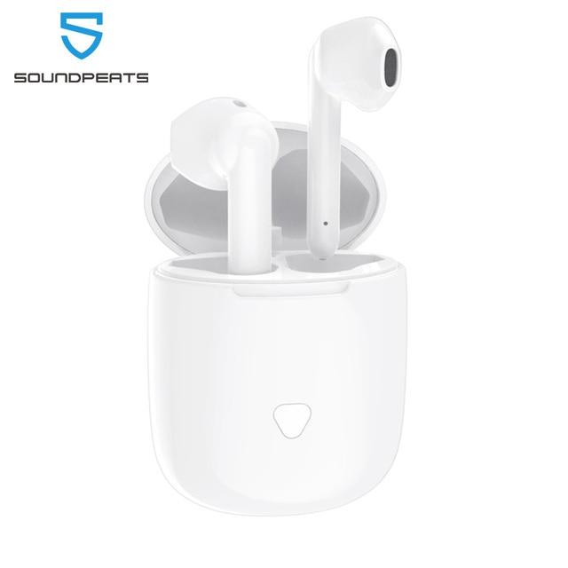 SoundPEATS Bluetooth écouteurs vrai sans fil contrôle tactile écouteurs 30Hrs Playtime CVC suppression de bruit affichage de la batterie