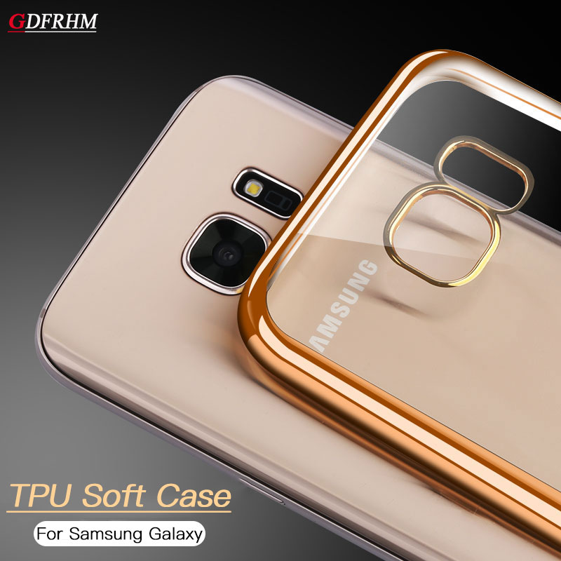 Cases For Samsung Galaxy S9 S8 Plus S7 S6 Edge Plus A3 A5 A7 2017 2016 Plating TPU Soft Silicone Cover Fundas