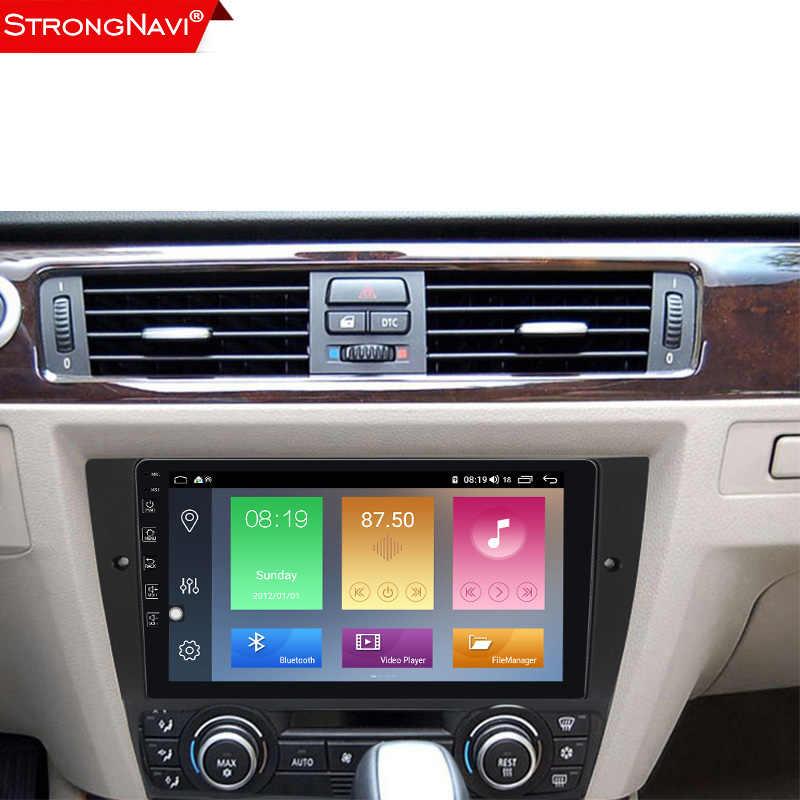 Dsp ipsアンドロイド 10 4 + 64 3gカーラジオdvdプレーヤー、bmw E90/E91/E92/e93 3 シリーズマルチメディアgpsナビゲーションステレオオーディオヘッドユニット