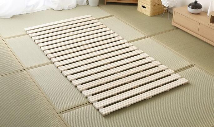 Modern Rolling Up Japanese Style Solid Wood Bed Support Slats For Tatami Bedroom Furniture Single Queen King Bed Frame Wooden Special Discount 7628 Cicig