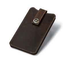 waist bag men genuine leather mobile phone wallet thin retro hanging wholesale