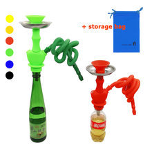 Arab Hookah Shisha Stem Kit Nargileh Smoking Pipe Set Narguile Unit Tobacco Nargila for Wine Vodka Champagne Beverage Bottle(China)