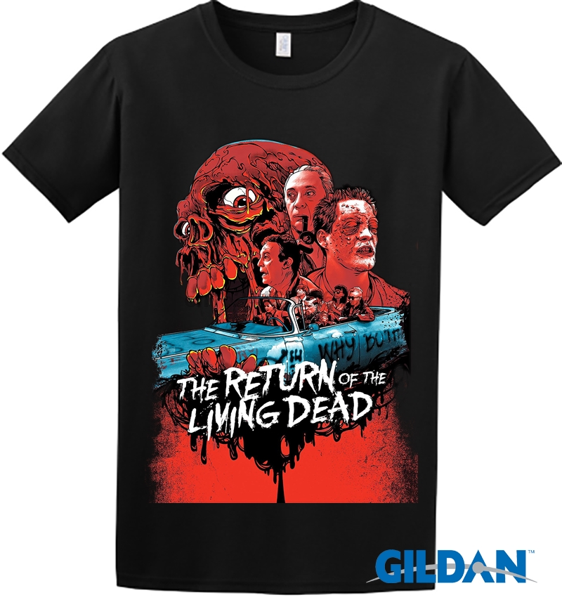 The Return Of The Living Dead 80s Movie Print T Shirt Fashion Top Regular Size image