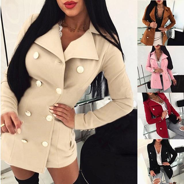 High Quality Wool Coat Women Winter Warm Coat Plus Size Womens Lady Long Sleeve Button Long Coats Casual Jacket Outwear#g3 5