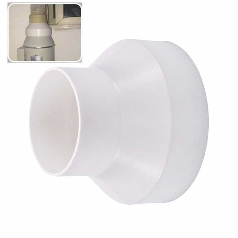 ABS Exhaust Pipe Reducer Adapter 110 To75 / 150 To110 / 200 To150 Ventilation Ducting Connector Variable Diameter Pipe Fittings