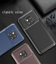 For Huawei Mate 20 Pro Carbon Fiber Stripe TPU Case Lite 20X Dust Proof Soft Shell