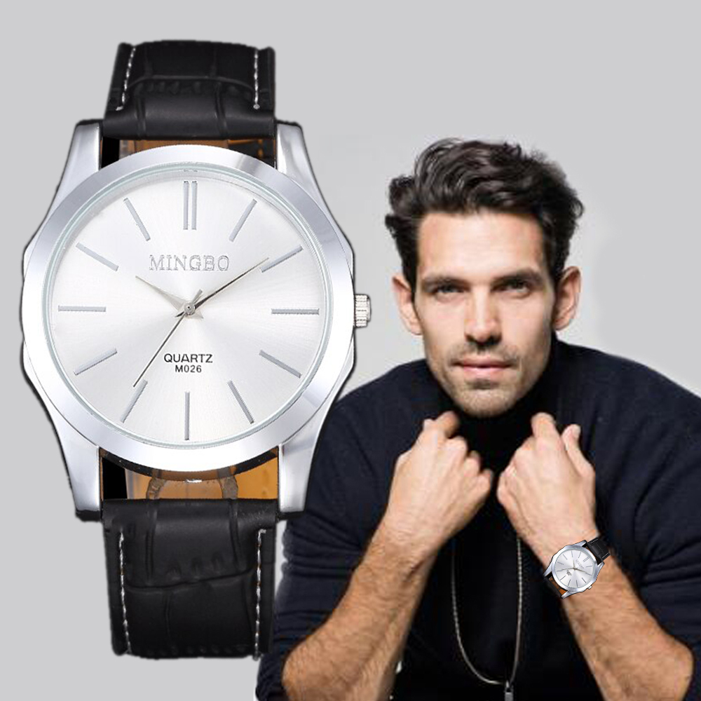 Fashion Unisex New Men Watch Silver Diesel Quartz Watch Bracelet Simple Design Watches Brown Leather Relojes Hombre Mujer