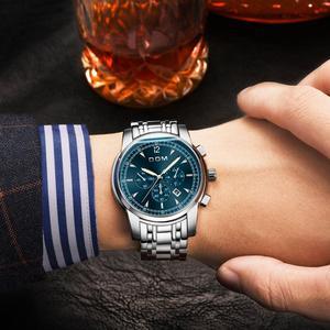 Image 5 - 2018 nowe zegarki DOM mężczyźni zegarek luksusowy chronograf mężczyźni sport zegarki wodoodporny pełny stalowy zegarek kwarcowy męski Relogio M 75D 1MPE