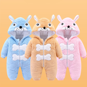 Autumn Winter Baby Girl Romper Baby Girl Cotton Hooded Overalls For Boys Infant Jumpsuit Kids Clothes For Newborn Baby Clothes winter newborn rompers baby girls boys cotton infant hooded warm overalls clothes kids high quality cartoon jumpsuit outerwear