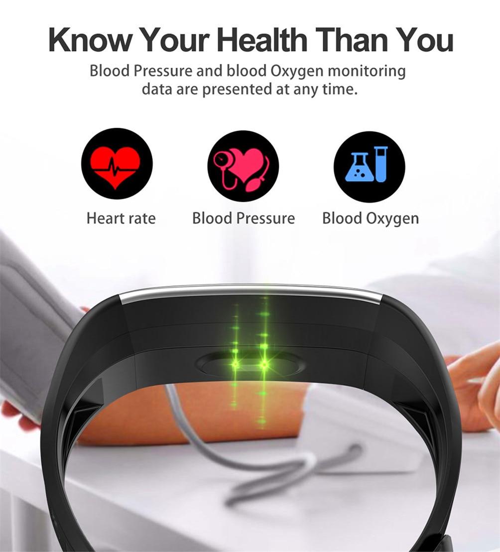 H5d1fc95cee034eeab227b9c7b09a8cc5I 2020 Smart Wristband Fitness Bracelet Blood Pressure Measurement Smart Bracelet Heart Rate Waterproof Pedometer Smart Band Watch