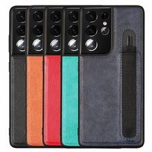Stylus S עט שקע S21U SPen חריץ יוקרה מצלמה הגנת עור מקרה עבור Samsung Galaxy S21 Ultra G9980 G998U g998D G998B