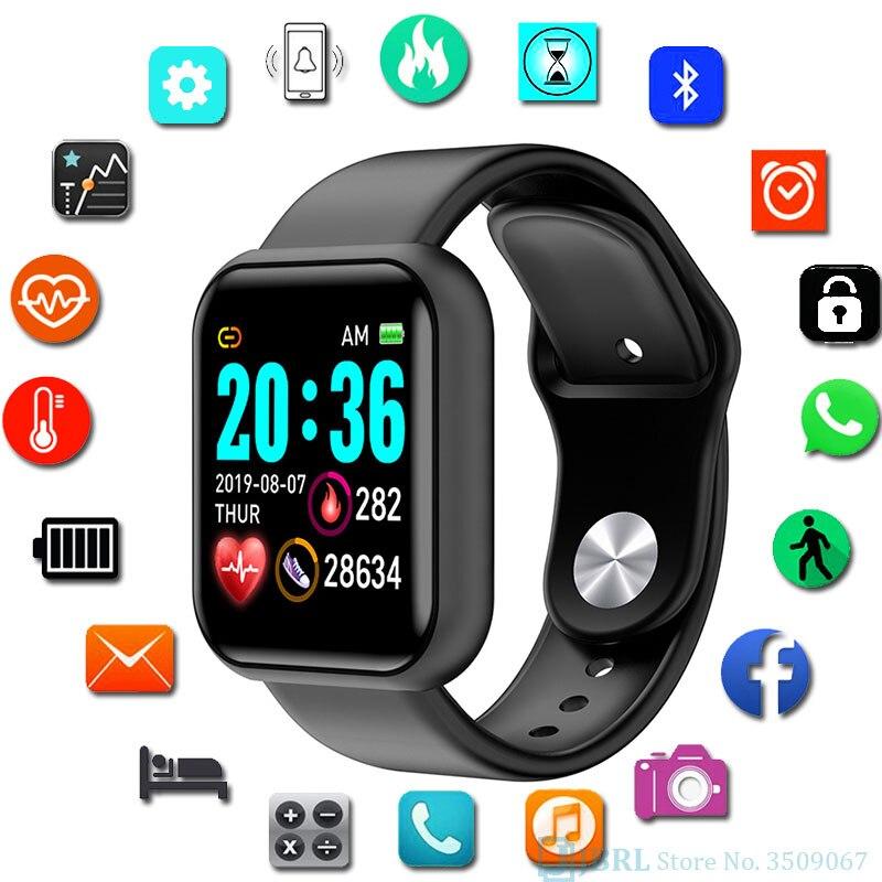 Умные часы монитор-фитнес-трекер артериального давления Y68 спортивные часы HeartRate сенсорный экран Смарт-часы для мужчин и женщин