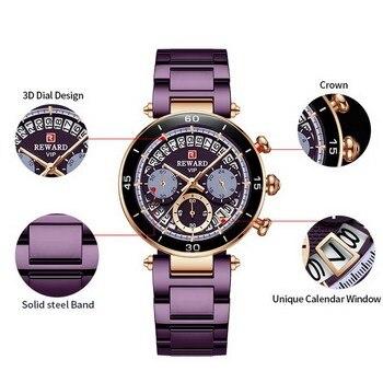 Hot Reward Women's Wristwatch Fashion Waterproof Travel Date Timepiece Girls Watch Casual Wrist Watch for Women Quartz Watches 4