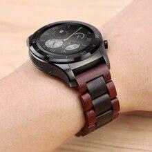 20 22mm drewna zegarek zespół dla huawei zegarek GT / Galaxy 42/46mm ze stali nierdzewnej klamra pasek wymiana bransoletka dla biegów S3 S2