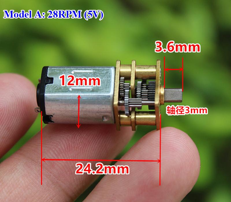 10X Model N20 Dc 6V 30Rpm Mini Metallgetriebemotor Mit Zahnrad 3Mm WellenduN2D2