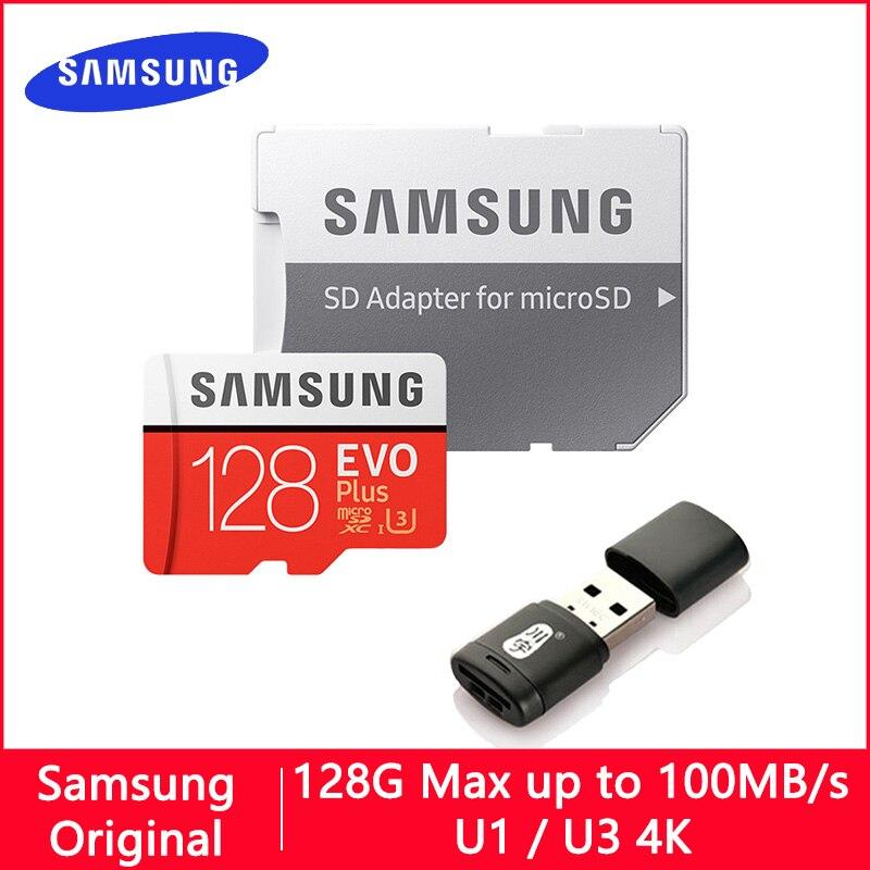 SAMSUNG EVO Plus/EVO Micro SD карта памяти, 128 ГБ, 64 ГБ, 32 ГБ, 512 ГБ, 256 ГБ, 128 ГБ