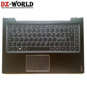New/orig Palmrest Upper Case Nordic Backlit Keyboard Touchpad for Lenovo Ideapad U330 U330T U330P Laptop C Cover 90203536