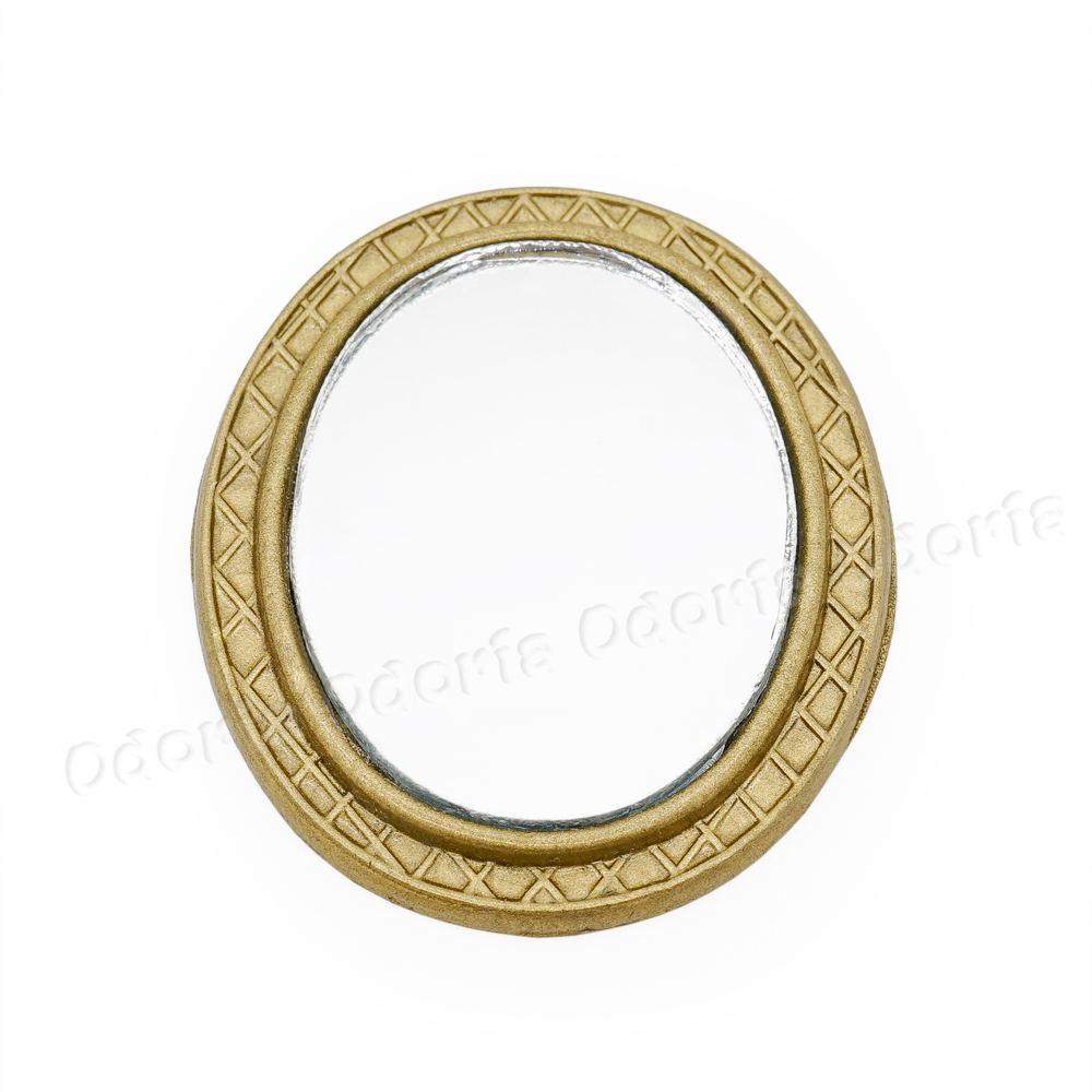 *SALE* Dollhouse Miniature Mirror in a Gold Toned Frame