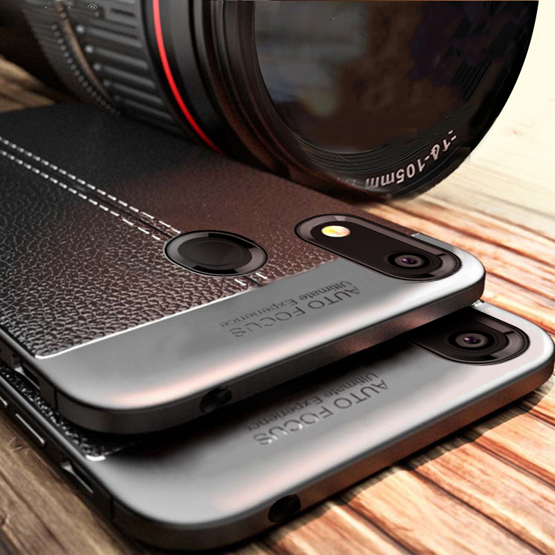 Leather <font><b>Case</b></font> For <font><b>Huawei</b></font> <font><b>Y6</b></font> <font><b>2019</b></font> <font><b>Case</b></font> <font><b>Cover</b></font> Luxury Silicone Bumper Soft TPU Phone Back <font><b>Case</b></font> on For <font><b>Huawei</b></font> <font><b>Y6</b></font> Y 6 <font><b>2019</b></font> Funda image