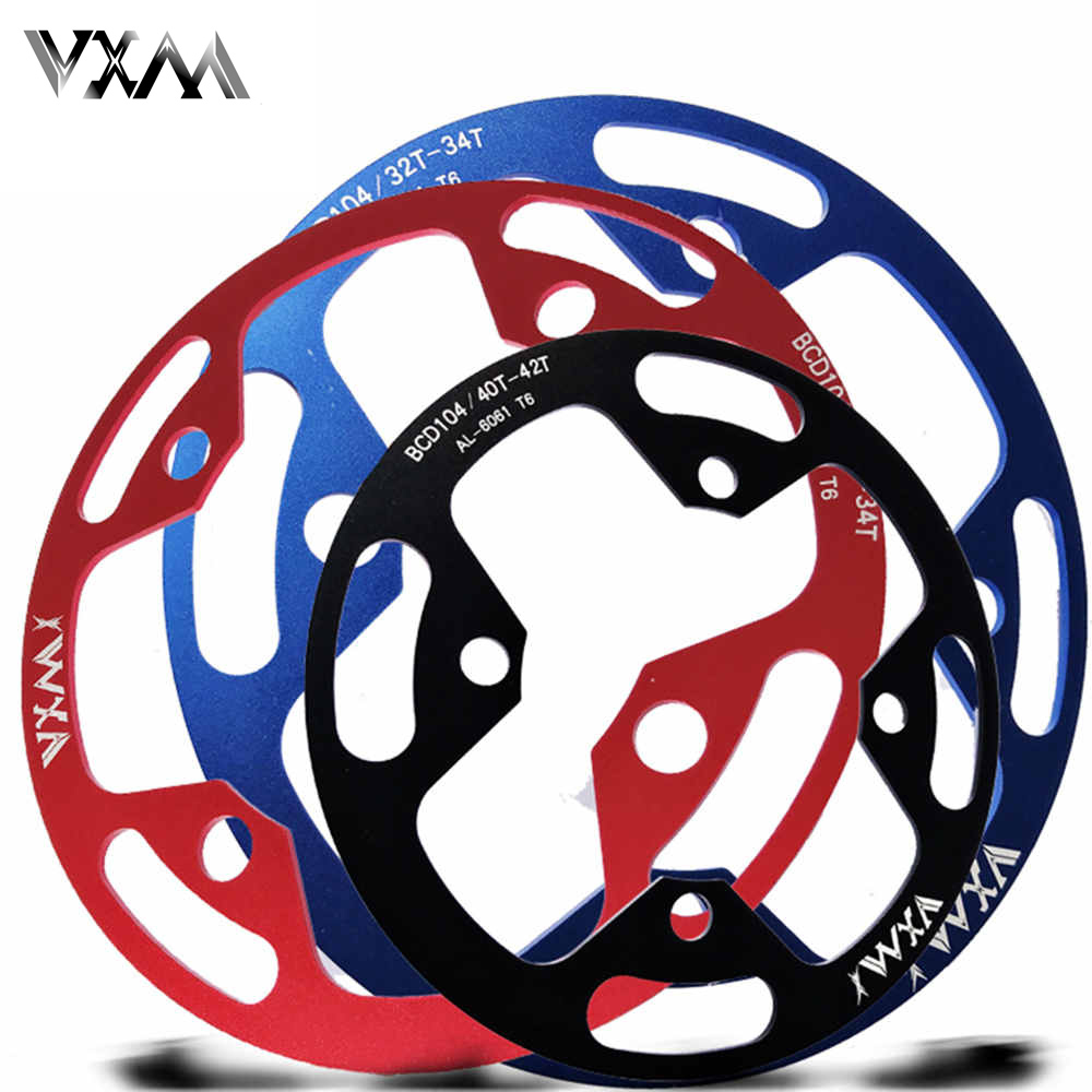VXM Mountain Bike Crank Protector 104BCD 32T/36T/40T Chainring Protection Cover Bicycle Crankset Guard Chainwheel Accessories