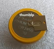 20 pièces/lot CR2450 pile bouton piles 3V 180 degrés 3 pieds soudage broches à souder Bluetooth montre accessoires 2450 batterie