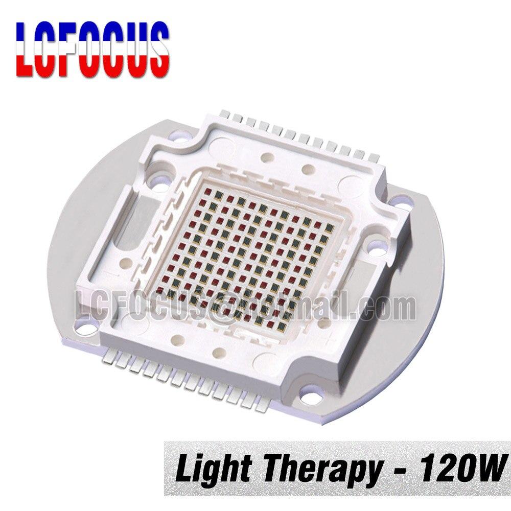 100W 120W luminothérapie haute puissance LED COB puce rouge profond 660nm + infrarouge 850nm ampoules de lampe pour la peau et l'hôpital de soulagement de la douleur
