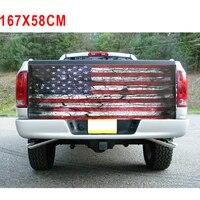 Decor Sticker Fashion Truck Novel Design Tailgate Graphic Decal 167*58cm Cool Exterior American Flag 2018