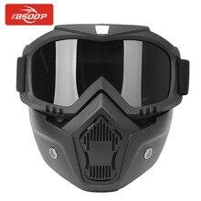 Para la cara abierta motocicleta medio casco o casco Vintage máscara Modular desmontable gafas y filtro de boca perfecto