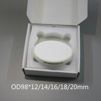 Ceramic Zirconia Block with Ring HT ST OD98x12/14/16mm Dental Lab CAD CAM Open Weiland Milling System Zirconia Blocks Materials grade 5 titanium cad cam milling machince discs 98mm 16mm dental lab cad cam milling material