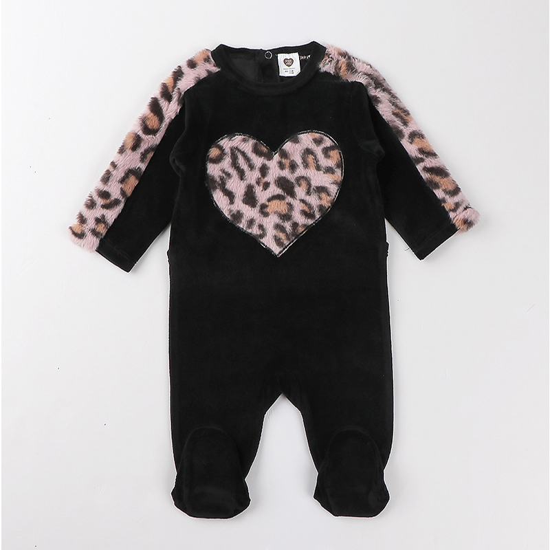 Baby romper pyjamas kids clothes long sleeves children clothing heart star baby overalls boy girl clothes footies velour rompers