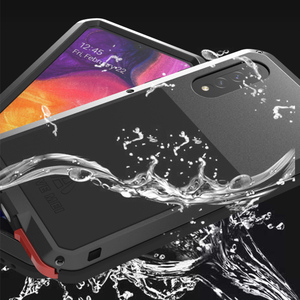 Image 2 - For Samsung Galaxy A50 Luxury Doom Waterproof Armor Duty Shockproof Metal Aluminum Phone Cover Cases For Samsung Galaxy S50
