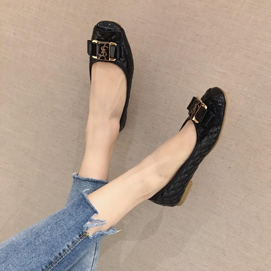 נשים של קיץ עור מפוצל שטוח הבוהן סביב נעלי בלט דירות מקרית פנאי OL מוקסינים דאג נעליים