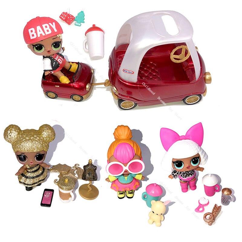 QueenBee-poupées Surprise 1 Lol, Swag, figurines Originales, poupée néon, modèle voitures, jouets pour filles, cadeau de noël