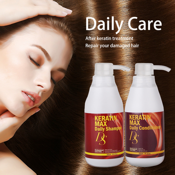 Hair Daily Shampoo and Daily Conditioner 300ML DS Smooth Dry Damaged Fizzy Hair Care Products Chocolate Smell Free Shipping