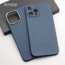 Чехол для телефона Amstar из чистого углеродного волокна темно-синего цвета для iPhone 12 Pro Max, Ультратонкий чехол из углеродного волокна для iPhone 12 ...