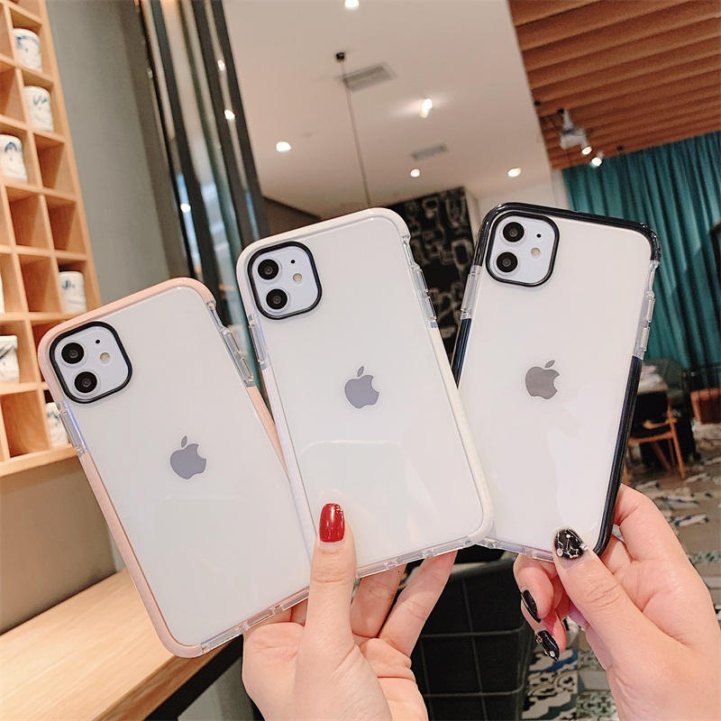 Luxury Anti-knock Transparent <font><b>Silicone</b></font> Tpu Soft Cover Phone <font><b>Case</b></font> For <font><b>IPhone</b></font> 11 Pro Max 6 7 <font><b>8</b></font> Plus X Xs Xs Max Clear Soft Cover image
