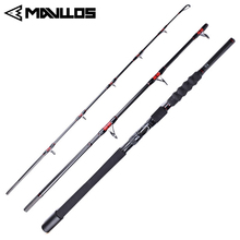 Mavllos Superhard Jigging Fishing Rod 3 Section Fast Action Saltwater Carbon Fiber Lure Weight 70-250G Boat Fishing Spinning Rod