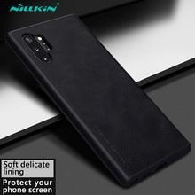 Leather Case for Samsung Galaxy Note 10+ Plus 5G Nillkin Luruxy Vintage PU Flip Cases 10