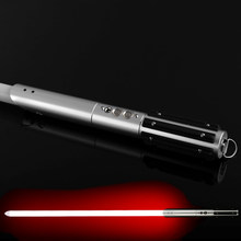 Sword Lightsaber Metal Fist Fist Luke Star Jedi Cosplay Led Lightsaber Light With Voice Vader Lightstick Discoloration Present(China)