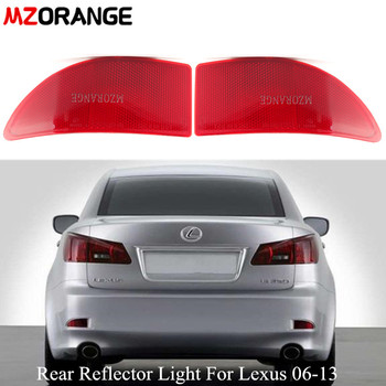 цена на Red Rear Bumper Lamp Reflector Light For Lexus IS250 IS300 IS350 GSE20 2006-2013 Tail Brake Light Without Bulb