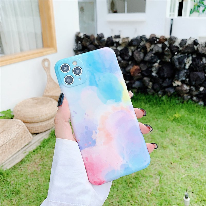 Fashion Glitter Phone Case For iPhone 12 11Pro Camera Protection Max X XR XS 7 8 Plus SE 2020 Colorful Soft IMD Shockproof Cover