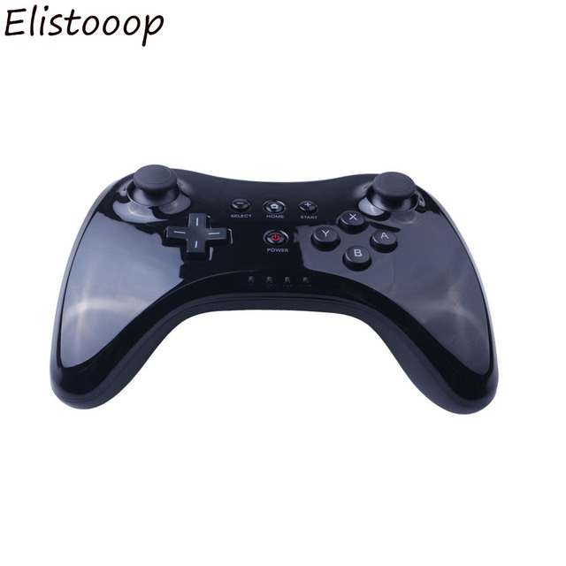 2019 klasik çift Bluetooth Gamepad kablosuz uzaktan kumanda USB U Pro oyun oyun Gamepad için Nintendo Wii U
