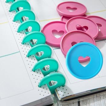 35MM Mushroom Hole Binding Buckle Notebook Plastic Binding Ring Mushroom Hole Disc DIY 360 Degree Buckle School Office Supplies