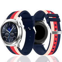 Strap for Samsung Gear S3 S2 sport Frontier Classic galaxy Watch active 42/46mm Band huami amazfit gtr bip 22mm 20mm huawei GT 2 20mm 22mm sports silicone band for samsung galaxy 46mm 42mm s3 s2 classic gear sport strap for huami amazfit bip huawei watch 2
