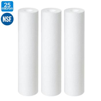 25 mikronów Spun z polipropylenu wkład do filtra P25 osadów wkład do filtra wody wkład do filtra tanie i dobre opinie coronwater CN (pochodzenie) 6 Miesięcy Polypropylene 25 micron Sediment Water Filter Cartridge 2 38 x10 (60 5 x 254mm)